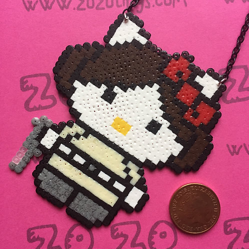 Star Wars Princess Leia Kitty Pixel Necklace