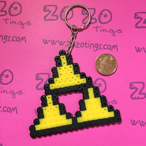 Zelda Triforce Pixel Keyring