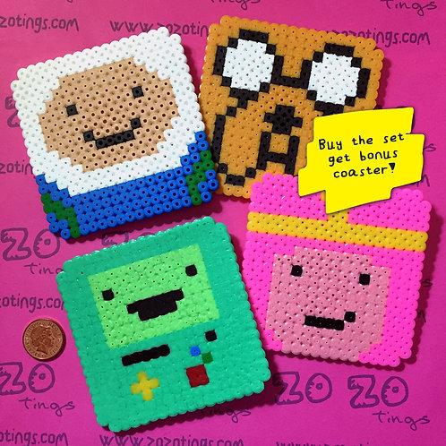 Adventure Time Pixel Coasters