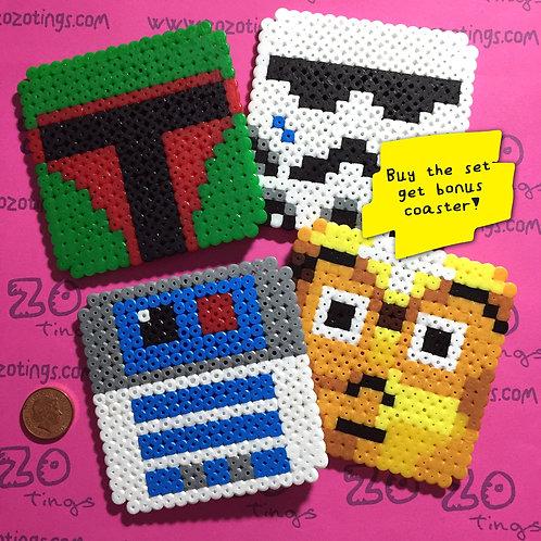 Star Wars Classic Pixel Coasters
