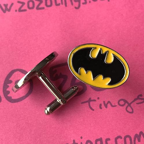 Batman Logo Metal Cufflinks