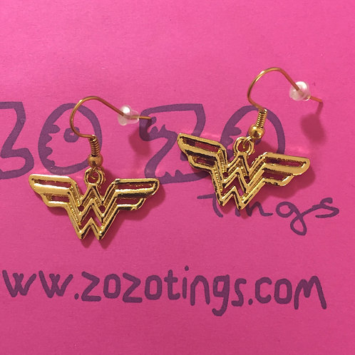Wonder Woman Metal Earrings