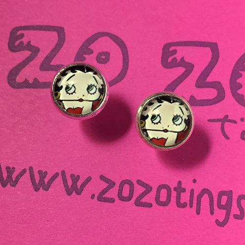 Betty Boop Stud Earrings