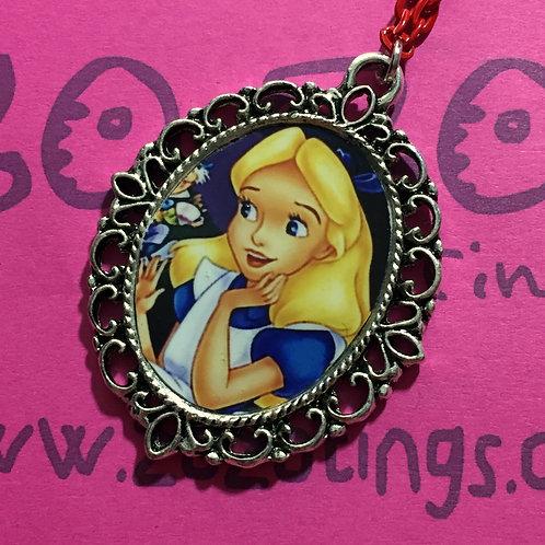 Alice In Wonderland Vintage Pendant