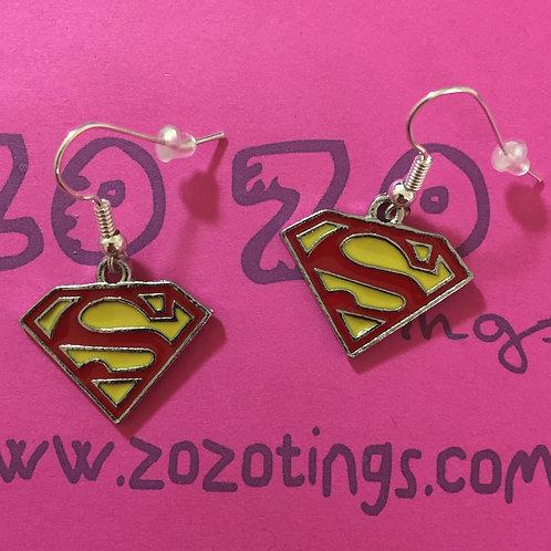Superman Metal Earrings