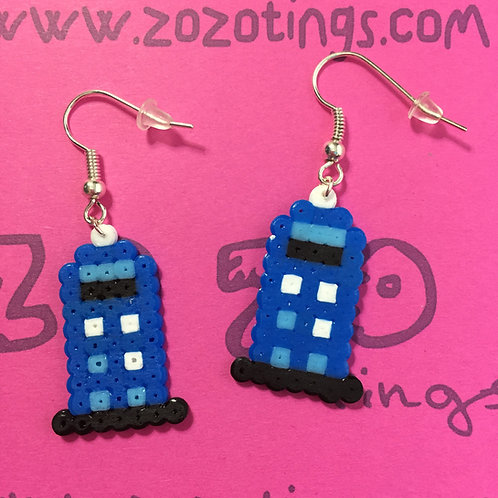 Doctor Who Tardis Pixel Earrings