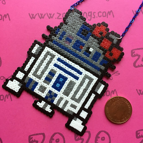 Star Wars R2-D2 Kitty Pixel Necklace