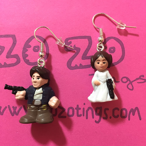Star Wars Han Solo and Leia Fighter Pod Earrings