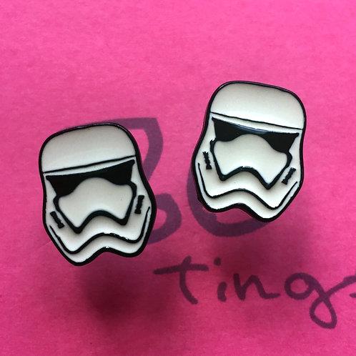 Star Wars Stormtrooper Metal Stud Earrings