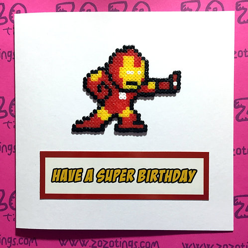 Iron Man Birthday Card