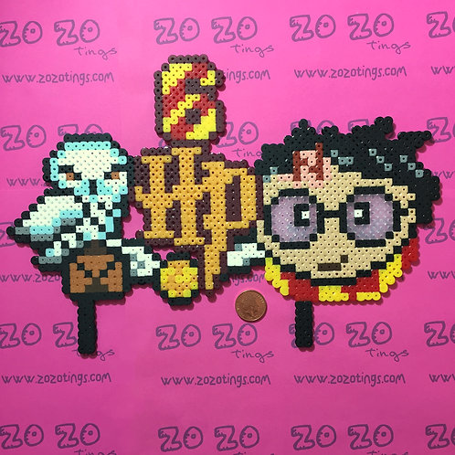 Harry Potter Pixel Birthday Cake Topper