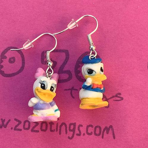 Donald & Daisy Duck Earrings