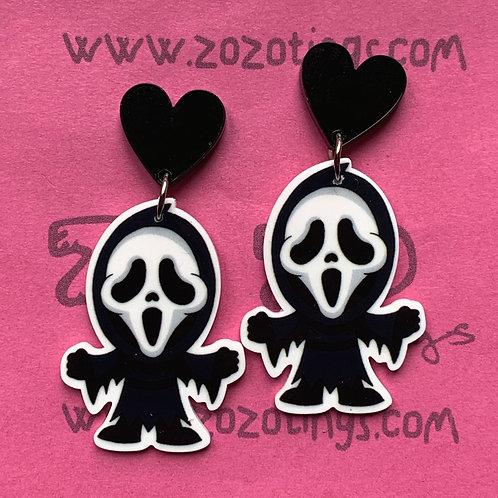 Scream 'Ghostface' Stud Earrings
