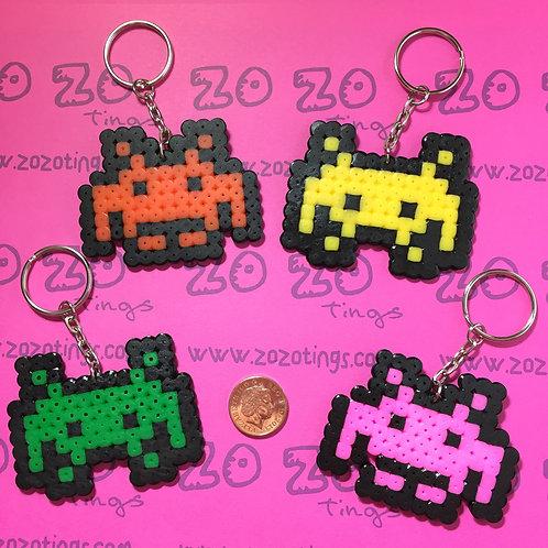 Space Invaders Pixel Keyrings