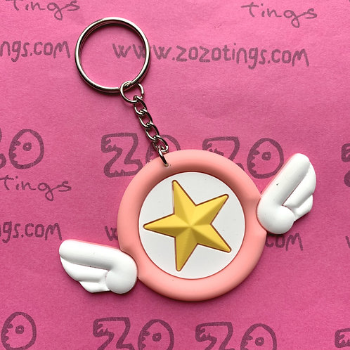 Sailor Moon Star Wing Rubber Charm Keyring