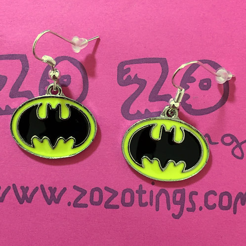 Batman Metal Earrings
