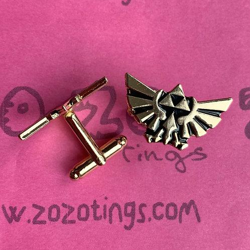 Zelda Hylian Crest Metal Cufflinks