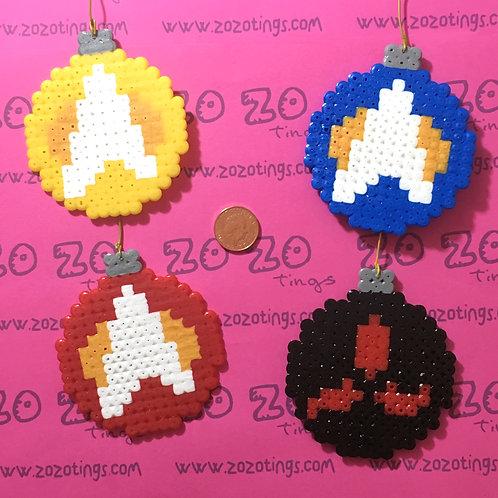 Star Trek Christmas Pixel Baubles