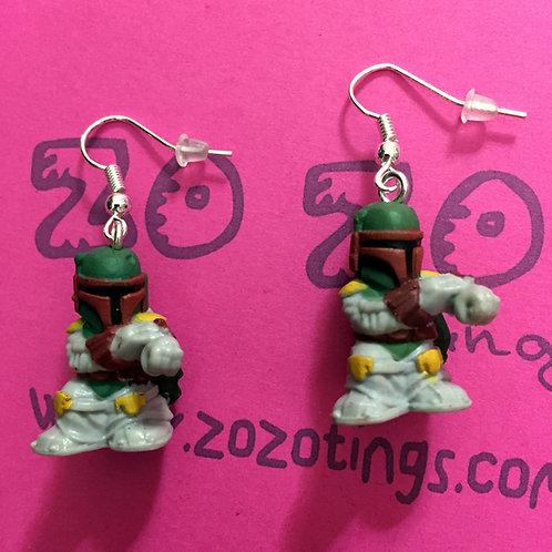 Star Wars Boba Fett Fighter Pod Earrings