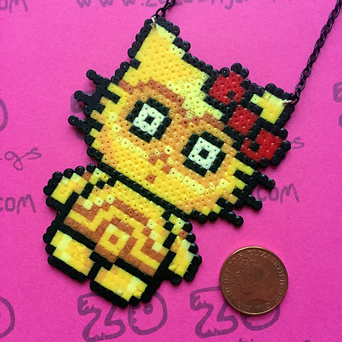 Star Wars C-3PO Kitty Pixel Necklace
