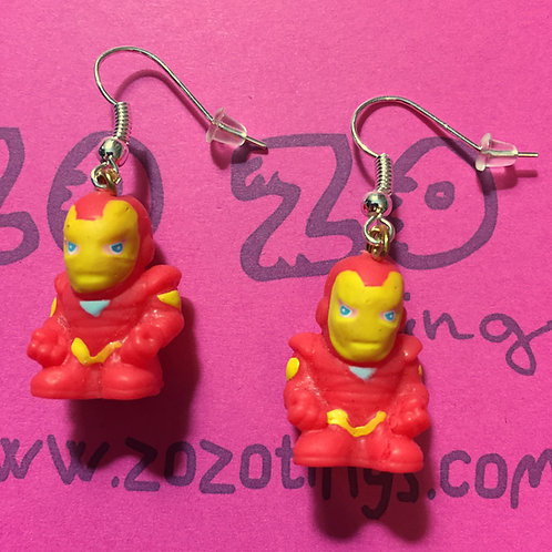 Iron Man Small Squinkie Earrings