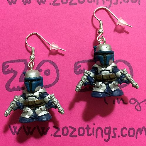 Star Wars Jango Fett Fighter Pod Earrings