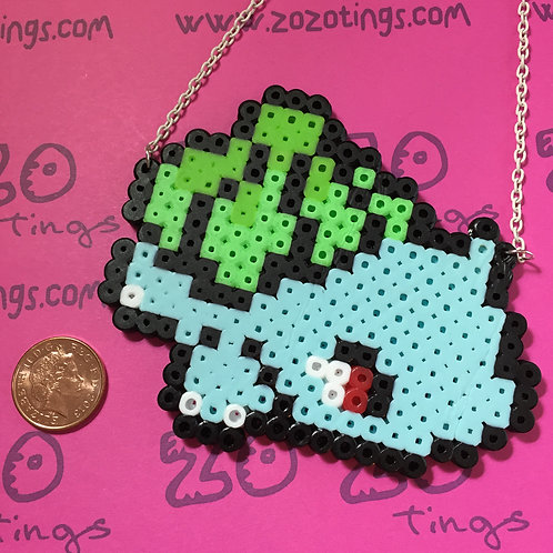 Pokemon Bulbasaur Pixel Necklace
