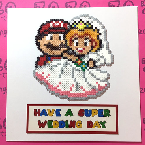 Mario Super Wedding Day Card