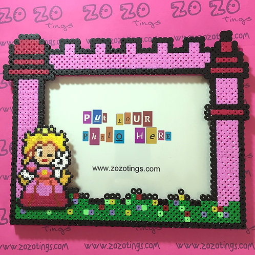 Princess Peach Pixel Photo Frame