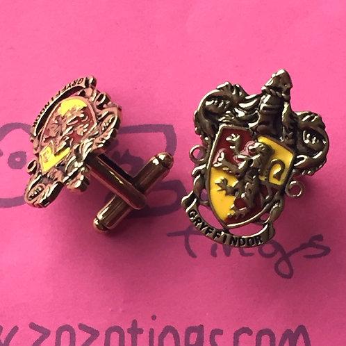 Harry Potter House Gryffindor Metal Cufflinks