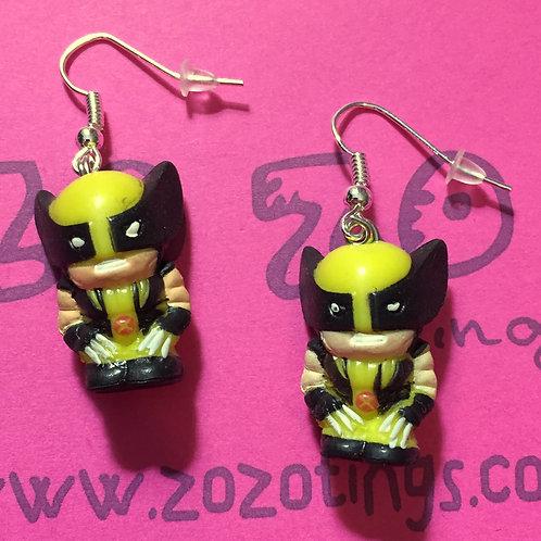 Wolverine Squinkie Earrings