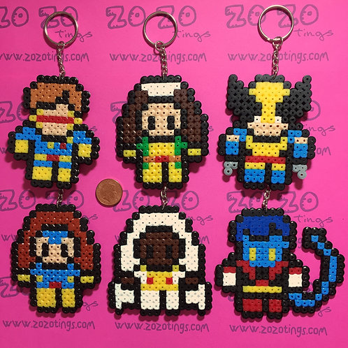The X-Men Pixel Keyrings