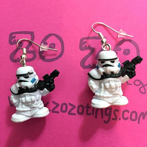 Star Wars Stormtrooper Fighter Pod Earrings
