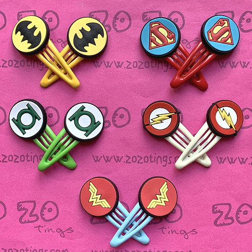 Justice League Snap Hair Clips