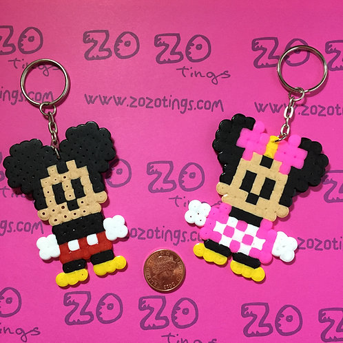 Mickey Mouse Pixel Keyrings