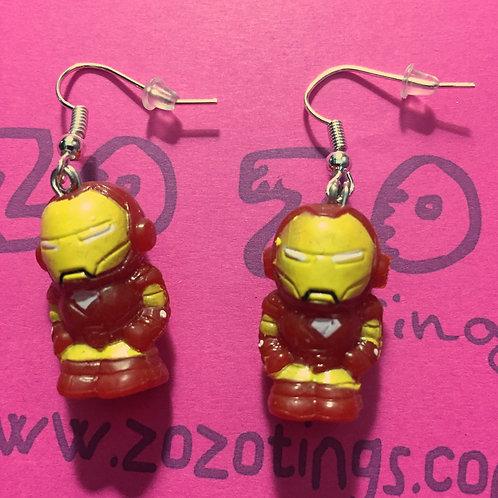 Iron Man Squinkie Earrings