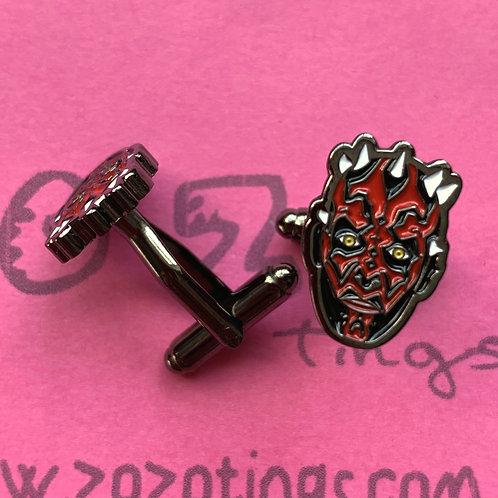 Star Wars Darth Maul Metal Cufflinks