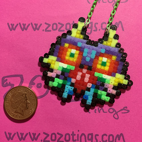 Zelda Majora's Mask Pixel Necklace