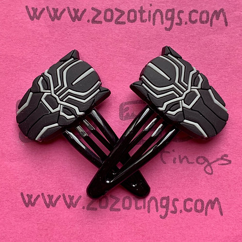 Black Panther Snap Hair Clips