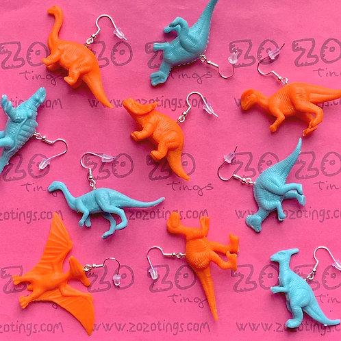 Dinosaur Coloured Earrings