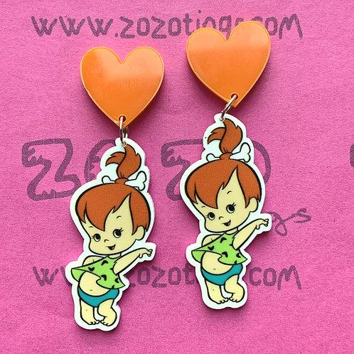 Pebbles Flintstone Stud Earrings
