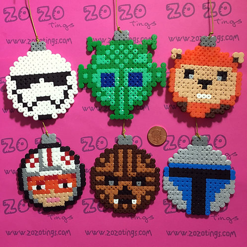Star Wars Mix 1 Christmas Pixel Baubles