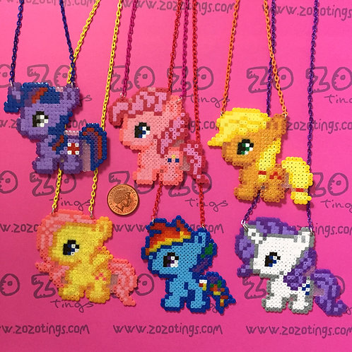 My Little Pony Pixel Necklaces