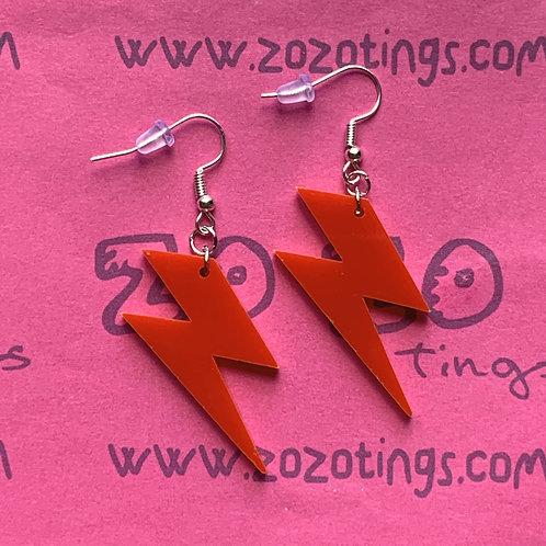 Ziggy Stardust Lightning Earrings