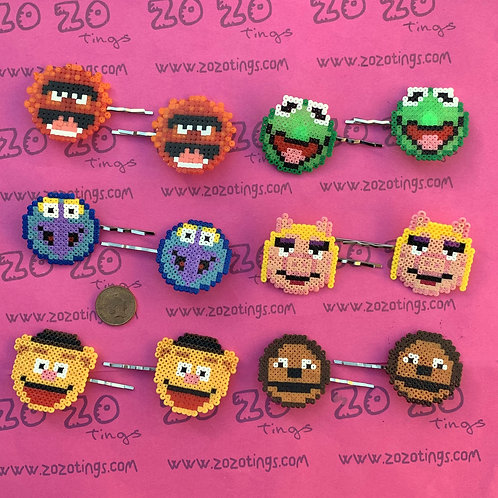 The Muppets Pixel Hair Slides