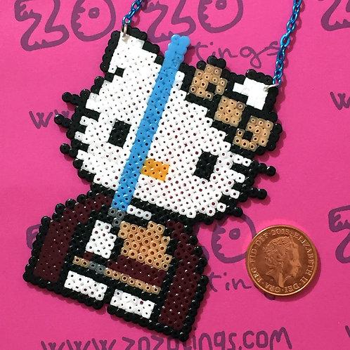 Star Wars Jedi Kitty Pixel Necklace