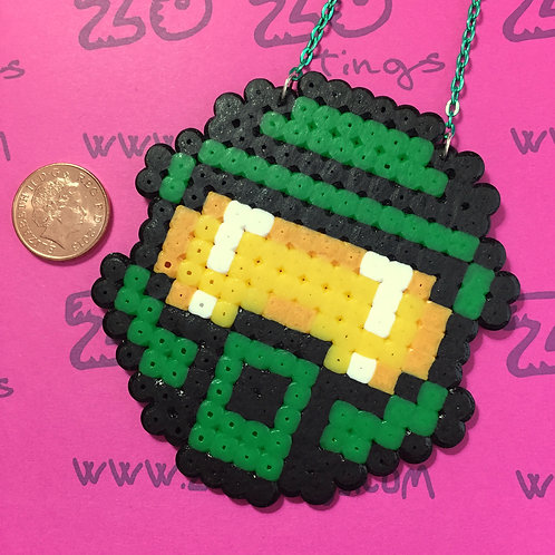 Halo 'Master Chief' Pixel Necklace