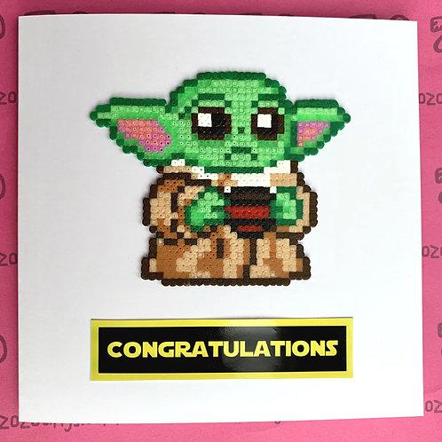 Star Wars Baby Yoda Congratulations Card