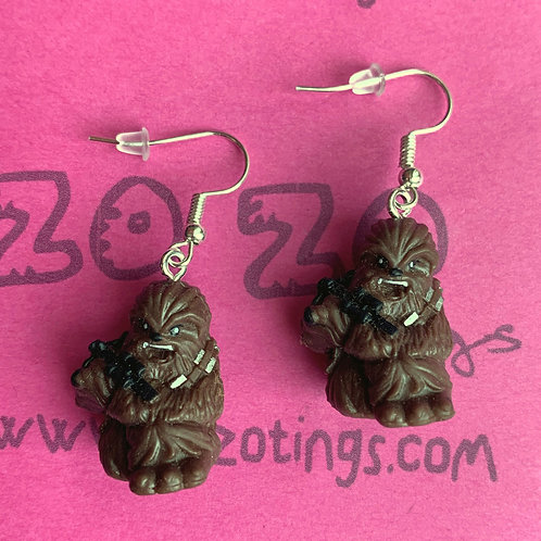 Star Wars Chewbacca Fighter Pod Earrings