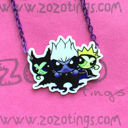 Powerpuff Villains Charm Necklace